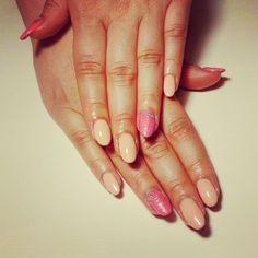 #New #nails :) szałowo do pracy haha #nude #rose