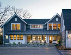 Awesome house, love the simple lines of this house!  Photo from the Marvin Windows and Doors gallery