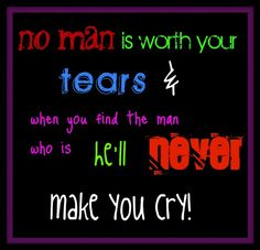 The ONLY time my husband ever made me cry I started laughing through my tears so hard that I began crying for another reason......and we laughed and we laughed.....and like he says we are one in a million <3 LOVE HIM