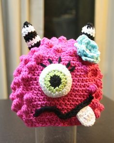 crochet kids monster hat  ~ Pattern for sale. Link correct when I checked on 23rd March 2015
