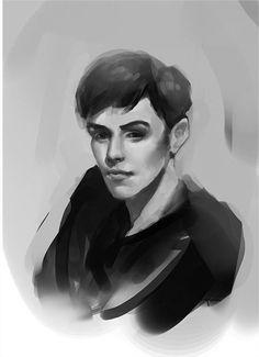 Black and white Portrait by Angéline Daquin-Soudi on ArtStation. Black And White Portraits, Artwork, Design, Work Of Art, Auguste Rodin Artwork, Artworks, Illustrators