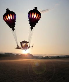 SteamPunk transport: gorgeous baloon voyager by Andrew Forrester (via SteampunkTendencies.com)