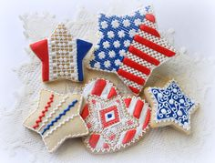 My little bakery                                                : 4th of July cookies...Creative Star Project!