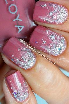 Pink Nail Designs, Cool Nail Designs, Nails Design, Glitter Nail Designs, Fancy Nails, Trendy Nails, Nagel Hacks, Artificial Nails, Gorgeous Nails
