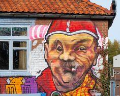 Muurschildering van Janus Kiep , Oeteldonk , Carnaval , https://www.facebook.com/Veurgevel/