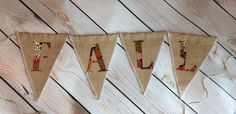 A personal favorite from my Etsy shop https://www.etsy.com/listing/240905104/fall-handmade-natural-burlap-banner