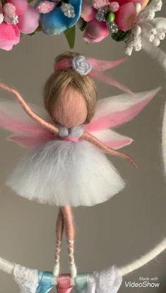 Wool Dolls, Yarn Dolls, Felt Dolls, Felt Fairy, Baby Fairy, Fairy Crafts, Felt Crafts, Merino Wool, Art Clay