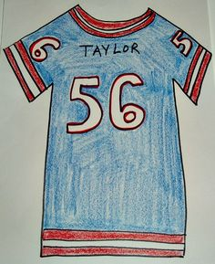 Super Bowl Football Jersey Craft from Kiboomu