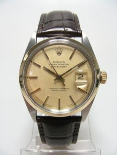 1968 - Rolex Oyster Perpetual Datejust ref: 1601 steel/gold, automatique.