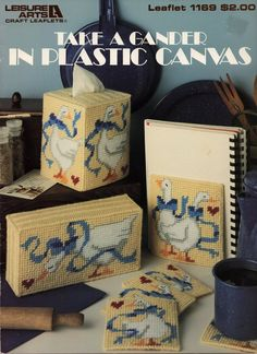 Take A Gander In Plastic Canvas Pattern Leaflet - Goose Geese - Leisure Arts