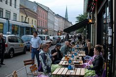 Seth Kugel for The New York Times. Still sunny at 10 p.m. in the hipsterish Grunerlokka neighborhood of Oslo, Norway