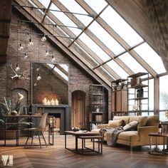 Trendy Home Architecture Styles Real Estates Ideas Beautiful Living Rooms, Beautiful Homes, Apartment Inspiration, Loft Industrial, Industrial Design, Design Loft, Studio Design, Design Design, Design Homes