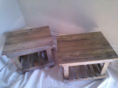 Reclaimed Cedar wood side tables. $50.00, via Etsy.