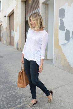 Spring Sweater---Club Monaco Sweater, AG Jeans c/o, Prada Bag, Jenni Kayne Flats