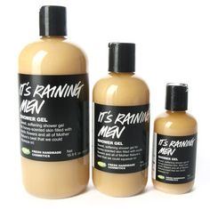"""It's Raining Men"" shower gel from Lush - this stuff smells like you are washing up with a bottle of honey with a TOUCH of citrus - ITS AMAZING!"