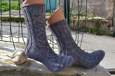Ravelry: JT's Socks pattern by Michaela Orth Free Knitting, Knitting Socks, Knit Socks, Yarn Colors, One Color, Colour, Crochet Projects, Ravelry, Free Pattern