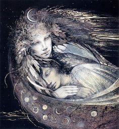 "Susan Seddon Boulet ""The Moon Goddess"" #art"