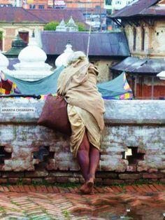 Travel Photography Man at Pashupatinath by SnapshotsOfTheWorld, $20.00
