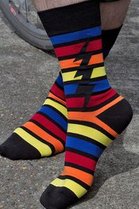 ZAP! These black striped rainbows have an extra jolt with a black lighting bolt.