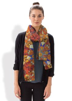 Silk Square Scarf - Line Dance by VIDA VIDA