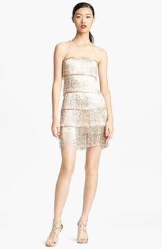 I have a problem with picking out incredibly expensive things...  Naeem Khan Hand Beaded Fringe Cocktail Dress available at #Nordstrom