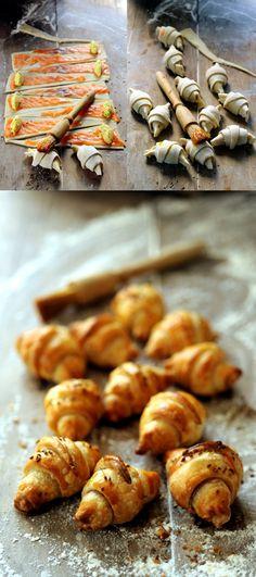 Mini-croissant au saumon et fromage de brebis...