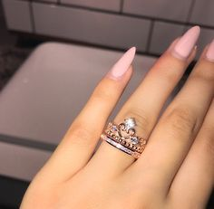 Morganite engagement ring rose gold Unique diamond Cluster ring Vintage wedding Mini stone Bridal set Jewelry Anniversary Gift for women - Fine Jewelry Ideas Cute Rings, Unique Rings, Beautiful Rings, Cute Jewelry, Jewelry Accessories, Jewelry Ideas, Accesorios Casual, Disney Jewelry, Ring Verlobung