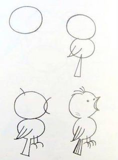 how to draw a dove easy