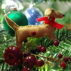 dachshund felt ornament tutorial by spabettie, thanks so for lovely share xox