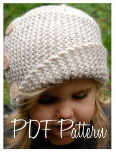 Knitting PATTERN-The Piper Cloche' (Toddler, Child, Adult sizes) also can be Made to Order via Etsy.