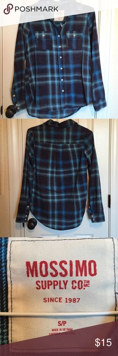 NEW BLUE FLANNEL Never worn NWOT. Flannel from target. Received as a gift. But I already have a blue flannel. Cheaper on Merc Mossimo Supply Co Tops Button Down Shirts