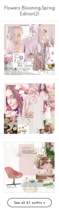 """""""Flowers Blooming:Spring Edition(2)"""" by rainie-minnie ❤ liked on Polyvore featuring WALL, Paul & Joe, Giambattista Valli, Jimmy Choo, Paul Andrew, Christian Dior, Oris, H&M, Raey and Dsquared2"""