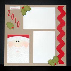 Stampin' Up!  Tasteful Trim  Patty Mickle  Christmas Scrapbook Layout