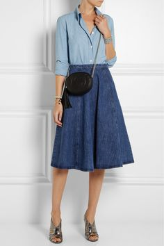 Michael Kors | Flared denim skirt | NET-A-PORTER.COM