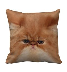 Grumpy Cat Throw Pillow from Beloved Shirts