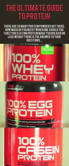 The Ultimate Guide to Protein. #nutrition #protein #fitness