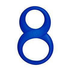 8 Ball Anillo doble para pene y testículos azul