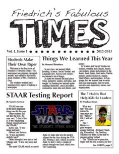 Learning to Teach in the Rain: Creating a Classroom Newspaper: Part 3 of 3