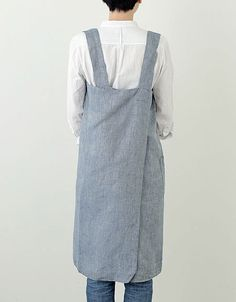 Cross Apron: Blue Chambray