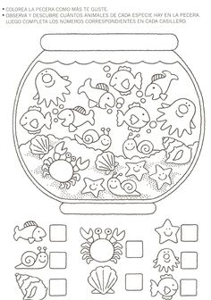 Crafts,Actvities and Worksheets for Preschool,Toddler and Kindergarten.Lots of worksheets and coloring pages. Preschool Learning, Kindergarten Worksheets, Preschool Activities, Teaching, Number Worksheets, Math For Kids, Crafts For Kids, Kids Education, Ideas