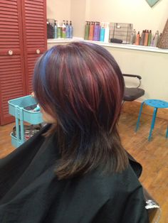 Blue,purple, and rose. #hairbycassie