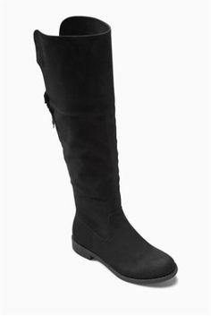 Black Over The Knee Boots (Older Girls)