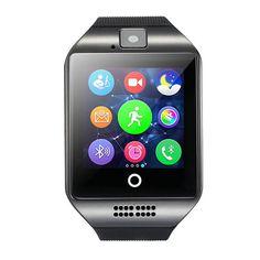 2017 MTK6261 Smart Watch Q18 with Sim&TF Card Slot Push Message Camera Bluetooth