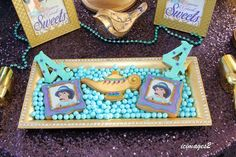 Amazing cookies at a Princess Jasmine birthday party! See more party planning ideas at CatchMyParty.com!