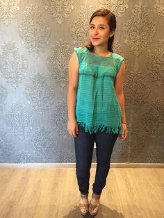 Mexican blouse blusa mexicana top telar de cintura hand woven mexican party… Mexican Top, Mexican Blouse, Mexican Party, Sugar Skull, Hand Weaving, Trending Outfits, Etsy, Clothes, Women