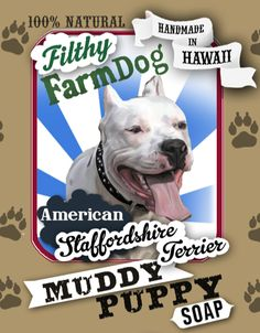 American Staffordshire Terrier Muddy Puppy Dog Soap