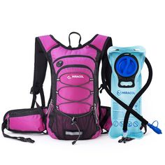 b171694abd40 Miracol Hydration Backpack with Water Bladder - Thermal Insulation Pack and  Flow Tube Keeps Liquid Cool up to 4 Hours – Multiple Storage Compartment –  Best ...