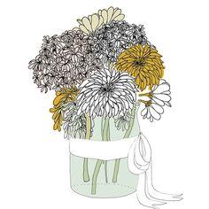 flowers gift card illustration by Lauren Fowler Super Mum, Hand Illustration, African, Creative, Gifts, Inspiration, Image, Folk, December