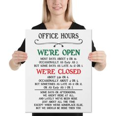 Office Hours 16x20 Canvas Print | Netties Expressions