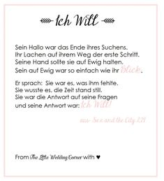 Sex and the City Gedicht Hochzeit von Carrie Bradshaw (via www.the-little-wedding-corner.de)